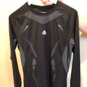 Adidas Techfit Athletic Top Black + Grey Size Lg